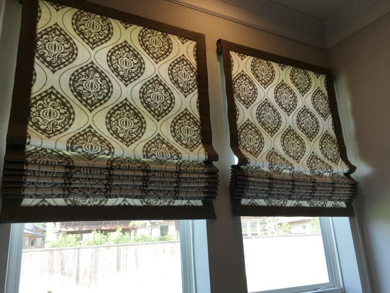 Flat Roman Shades For Windows : Custom flat roman shade window treatment your fabric or mine