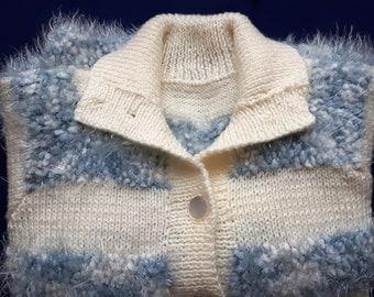 Vintage unused hand knit cardigan