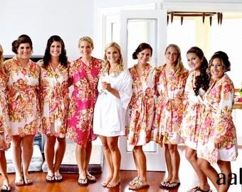 Bridesmaid Robes, Bridesmaid Robe, Bridal Robe, Bridal Robes, Floral Bridesmaid Robes, Robes, Floral Robe, Bridal Party Robes, Floral Robes