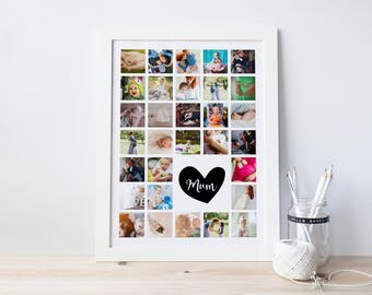 Photo Collage Gift, Photo Prints, Mom Personalized Gift, Personalised Gift Mum, Mum Photo Frame, Mommy Gifts, Mom Presents, Mum Print, Gift