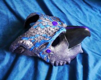 Carnival Blue Gryphon Mask