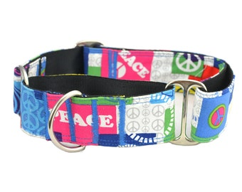 Martingale Collars,Greyhound,1.5 inch,2 inch Martingale Collar,Peace