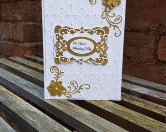 Wedding Card #white & gold