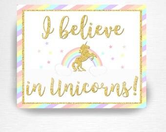 Believe in unicorns | Etsy