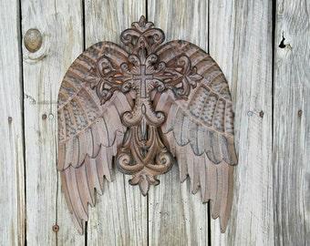 Metal Angel Wings Wall Decor metal angel | etsy