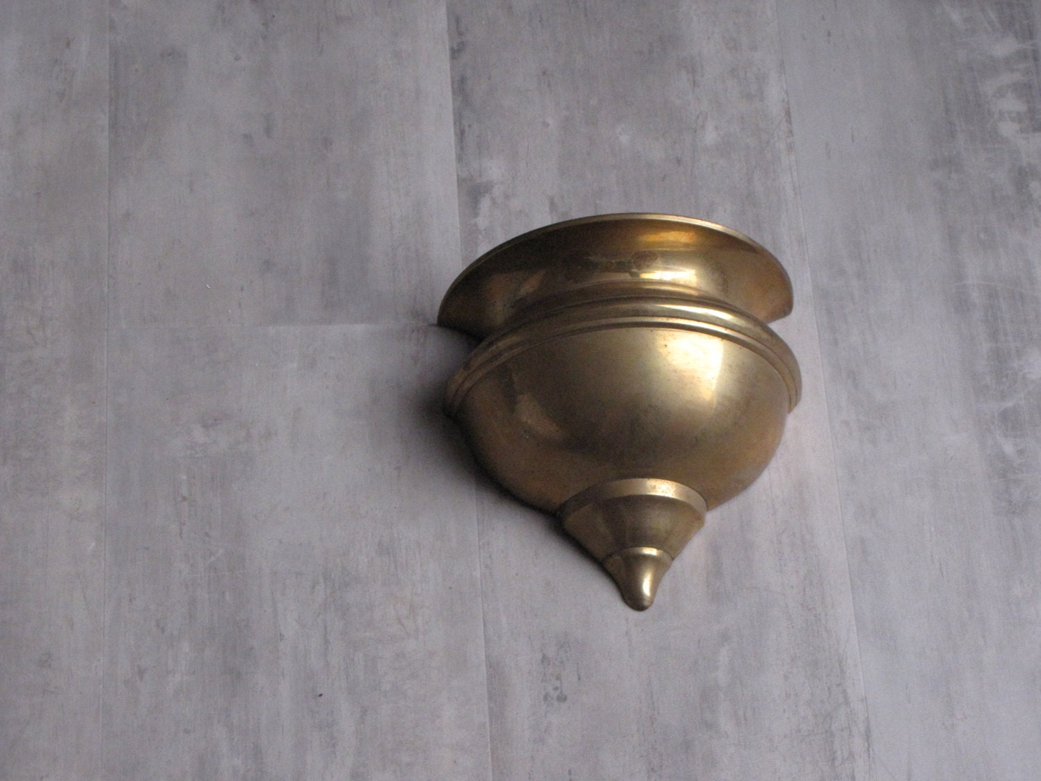 Vintage Brass Wall Sconce Wall Vase
