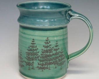 Evergreen mug in green