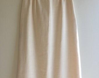 White Linen VINTAGE Pencil Skirt | Small