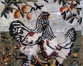 Mosaic Kitchen Backsplash- Chicken Chick