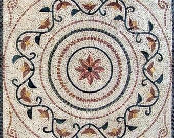 Geometric Botanical Mosaic - Muriel