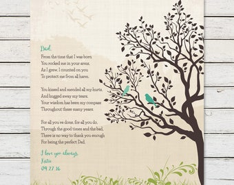 DAD GIFTS, Father's Day Gift, Gift for Dad from Daughter, Father of the Bride, Dad Birthday Gift, Thank You Dad Art Print, Dad Poem