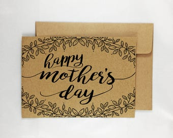 Printable Mother's Day Card - Leaves Design