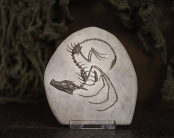 Estelle – A cute little dragon fantasy fossil sculpture, for dragon lovers