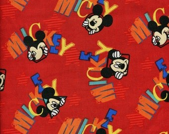 """Springs Licensed """"Mickey Out To Play"""" Disney Fabric"""