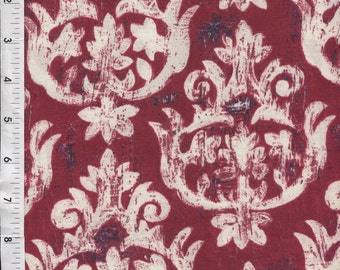 "Michael Miller Laura Gunn ""French Harp"" Burgundy Fabric"