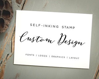 Custom Self Inking Stamp, Personalized Stamp, Design Your Own Stamp: Logo Stamp, Wedding Stamp, Business Card Stamp, Branding, Marketing