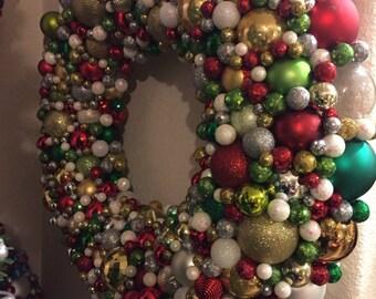 Christmas ornaments wreath