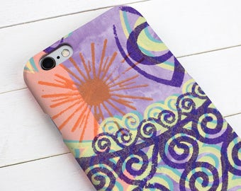Mobile or cell phone, snap case for iPhone 7, 7plus, 6, 6s, 6plus, 5, 5s, 5c, 4, 4s, Samsung s4, s5, s6, s7, s7edge, s8, s8plus & HTC one M8