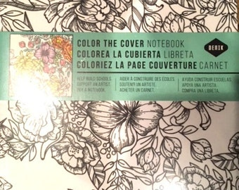Color The Cover Journal Empty Book Journaling is Fun Now Add Coloring to Your Writing