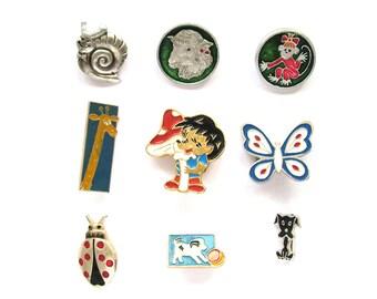 Animals, Children's badges, Pick from set, Hedgehog, Amanita, Fauna, Vintage collectible badge, Soviet Vintage Pin, Soviet Union, USSR