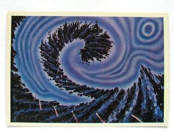 Space, Death of Planet, Postcard, Painting, Sokolov, Illustration, Unsigned, Rare Soviet Vintage Postcard, USSR, 1975, 1970s