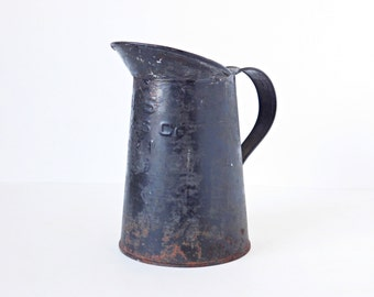 WWII Military Field Pitcher, French Country Vase, C. 1941, Metal Pitcher, US Military Issue Pitcher, Made by L T & S Co