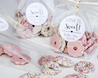 love is sweet personalized wedding favor bags candy buffet rehearsal dinnertake home