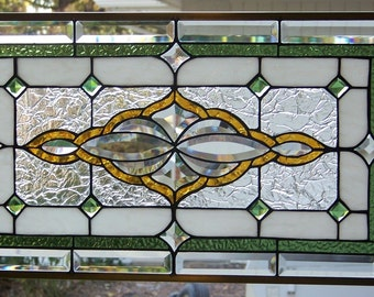 Stained Glass Window Hanging 28 X 15 3/4