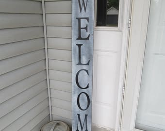 Large Welcome Porch Sign / Reclaimed Shutter / Wood / Farmhouse / Rustic Decor