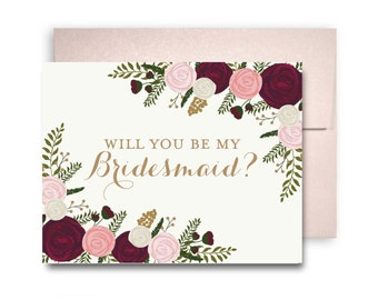 Will You Be My Bridesmaid Card, Bridesmaid Cards, Ask Bridesmaid, Bridesmaid Maid of Honor Gift, Matron of Honor, Flower Girl #CL157