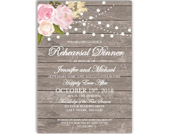 Rehearsal Dinner Invitation Template, DIY Rehearsal Invitation, Cheap Invitation, Rustic Invitation, INSTANT DOWNLOAD Microsoft Word #CL138