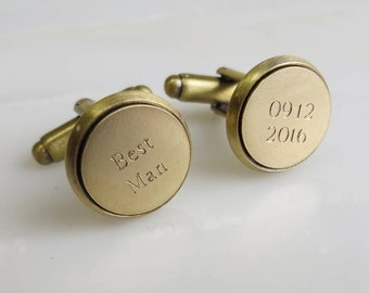 Personalised Brass Cufflinks