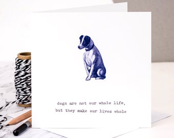 Dog Lover's Card; Blue GC048