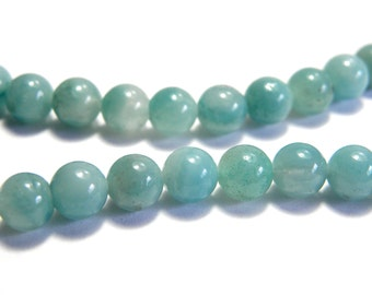 Round Amazonite Real Gemstone Beads 6mm