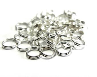 100x Small Split Rings 5 mm - Silver Plated - Nickel Free