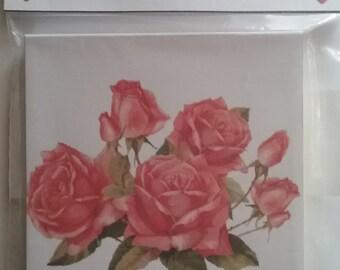 Scratch pad - Unique Gift - Vintage Roses