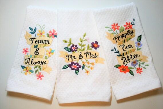 Kitchen Wedding Gifts: Bridal Shower Gift Kitchen Towel Wedding Dish Towel Gift