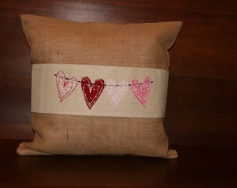 Applique Valentine Pillow Wrap