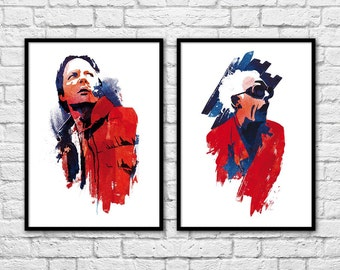 2 Art-Posters 30 x 40 cm - Back to the Future