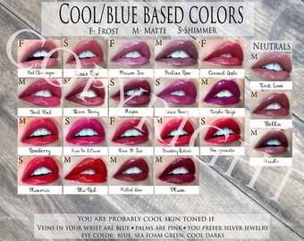 LipSense Cool/Warm Color Charts Digital Files