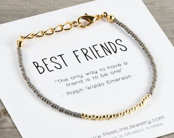 Gold Best Friends Bracelet Beads, Friendship Bracelet, Best Friend Gift, Best Friend Friendship Bracelet, Best Friend Bracelets