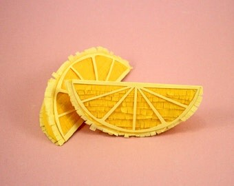 Lemon Wedge Pinata, (1) Lemon Decoration, Tutti Fruity Party, Fruit Party Prop, Fruit Party Pinata, Fruit Theme Party, Listing for 1 Pinata