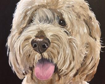 Goldendoodle Art Print, Canvas or Archival Paper options