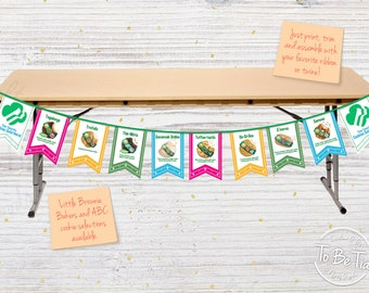 Girl Scout Cookie Bunting - Made-to-Order/Printable Digital File