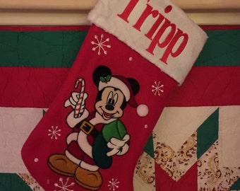 """Disney 20"""" Appliqued Mickey Mouse Full Body Plush White Cuff  - Personalized"""