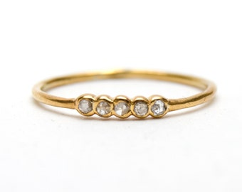 Teeny Tiny Diamond Stacking Ring