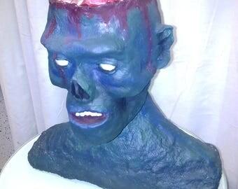 Paper mache frank head