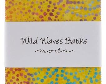 Wild Waves Batiks Charm Pack by Moda Fabrics for Moda Fabrics
