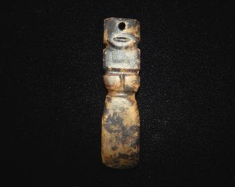 Pre-Columbian Stone Pendant Carving, Authentic