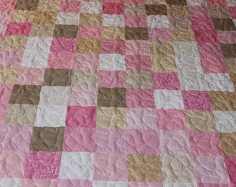 Twin Size Quilt - Supply Your Own Fabrics - Custom Made Quilt - Patchwork Quilt